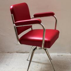 Red Leather Desk Chair Modern Wingback Chairs Chrome And For Sale At 1stdibs