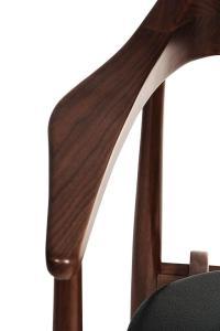 European Mid-Century Modern Style Walnut, Leather and ...