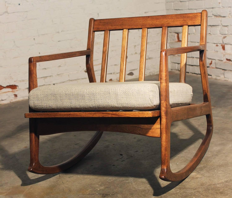 danish modern rocking chair lounge outdoor target teak at 1stdibs