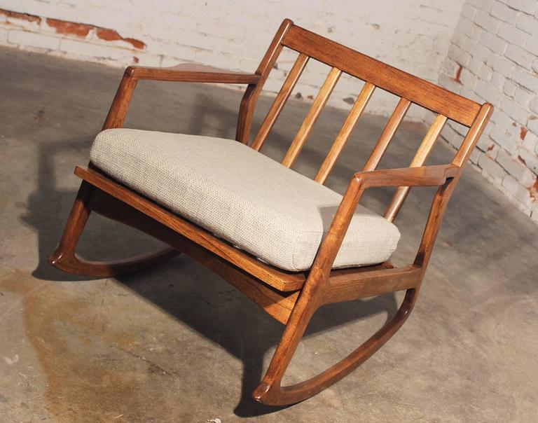 danish modern rocking chair chamber pot teak at 1stdibs mid century for sale