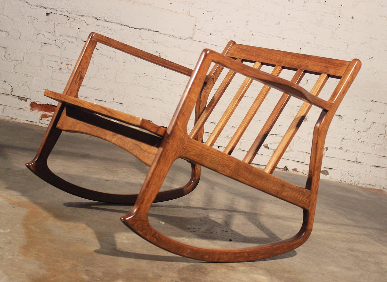 danish modern rocking chair outdoor string chairs teak at 1stdibs