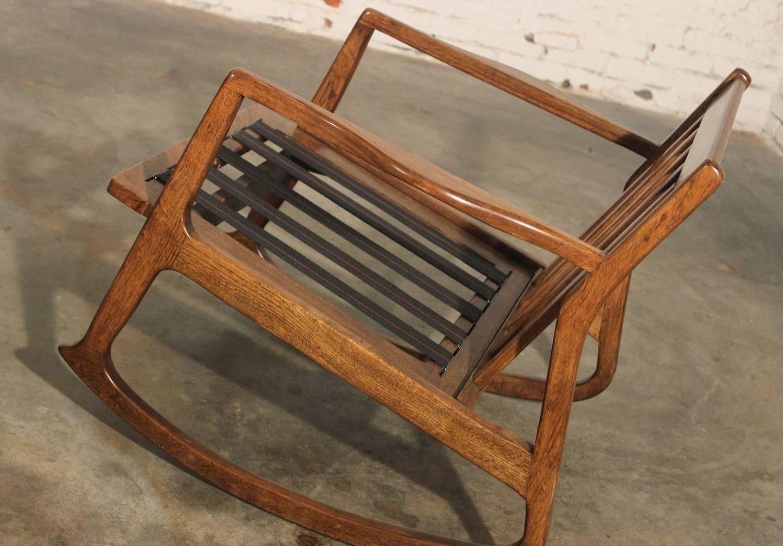 old fashioned rocking chair cushions walmart travel high danish modern teak at 1stdibs