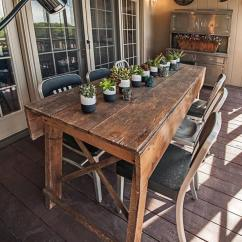 Kitchen Workbench Outdoor Kits For Sale Primitive Industrial Farmhouse Style Dining Table ...