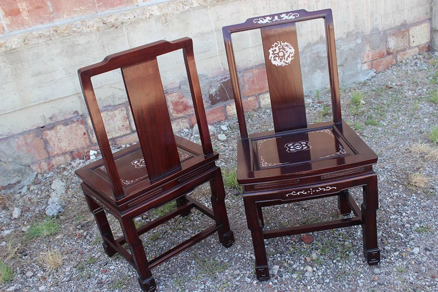 chinese rosewood dining table and chairs custom bean bag mother of pearl
