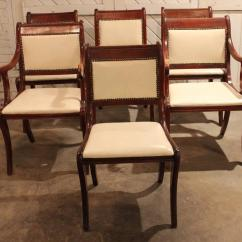 Federal Dining Chairs Mi Chair New Design Group Set Of Six Vintage Regency Style For Sale At
