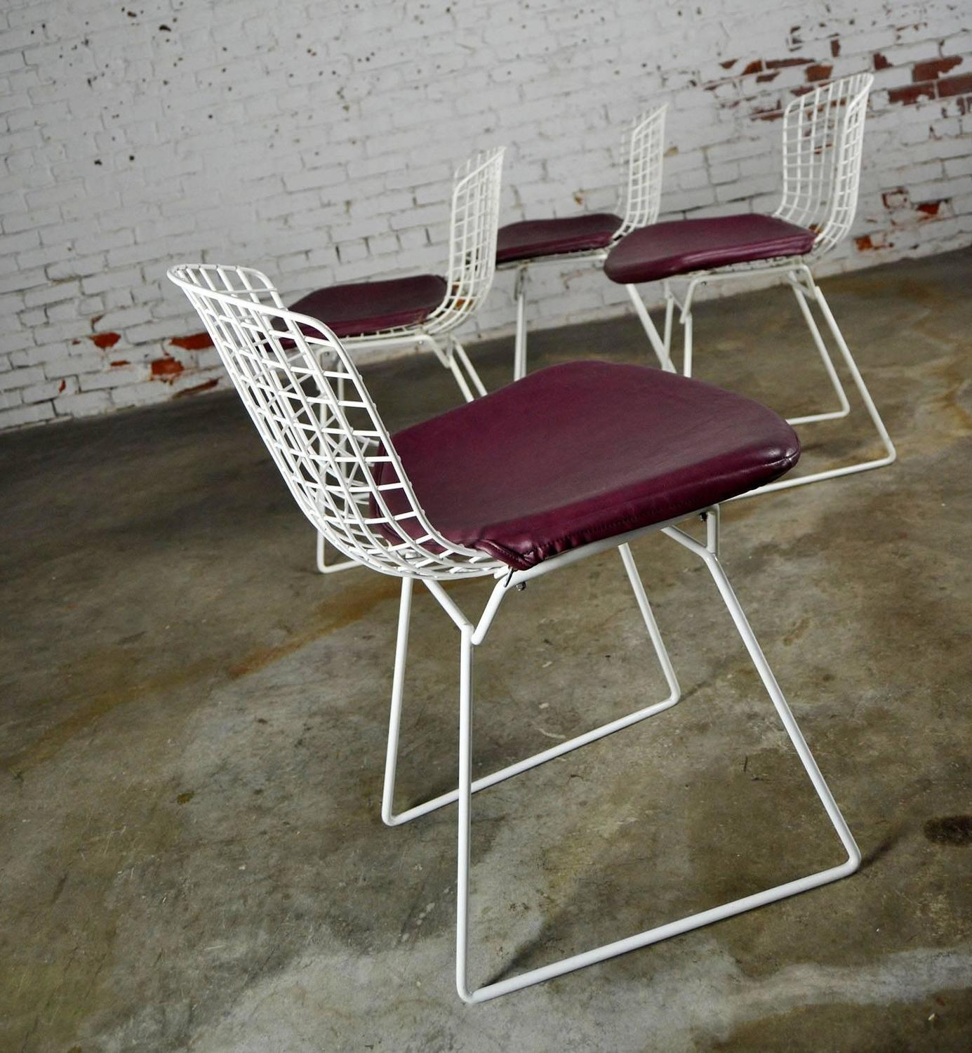 white bertoia side chair sears canada outdoor lounge chairs vintage mid century modern wire