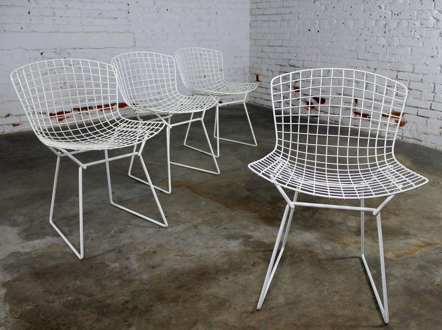 mid century modern wire chair overstock leather vintage bertoia white side chairs