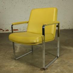 Chromcraft Chairs Vintage Office Chair Recliner Mechanism Mid Century Modern Style Chrome Flat