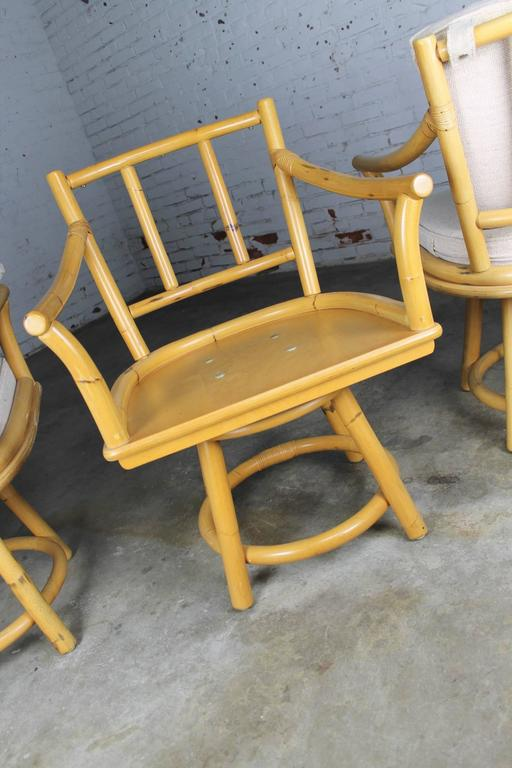 ficks reed chair round table 6 chairs dimensions mid-century co. rattan game with four swivel armchairs for sale at 1stdibs