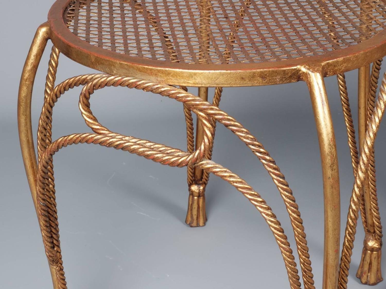 boondocks steel chair effect fisher price singing pair of 1960s italian brass gilded metal side