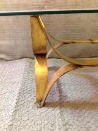 Mid-Century Italian Gilt Cocktail Table For Sale at 1stdibs