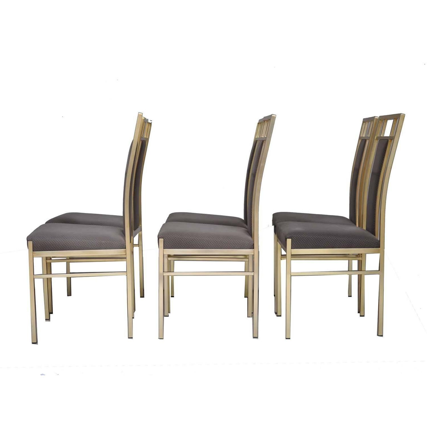 gold dining chairs glitter chair covers for sale italian set of in metal and fabric