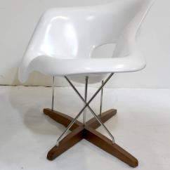 White Chaise Chair Racing Simulator Eames Vitra La At 1stdibs