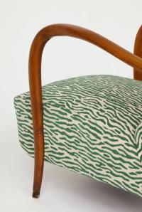 Italian Sculptural Mid Century Green Animal Print Velvet ...