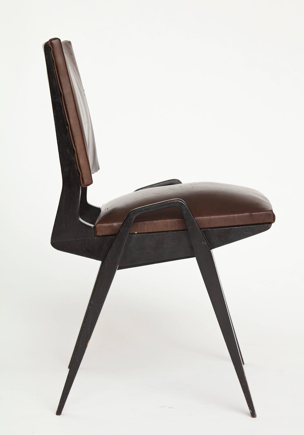 pre tables and chairs party chair covers buy modernist mid century maurice brown leather dining
