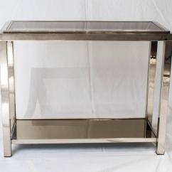 Vogue Chrome Sofa Table Best Deals Cyber Monday Console In The Style Of Romeo Rega At 1stdibs