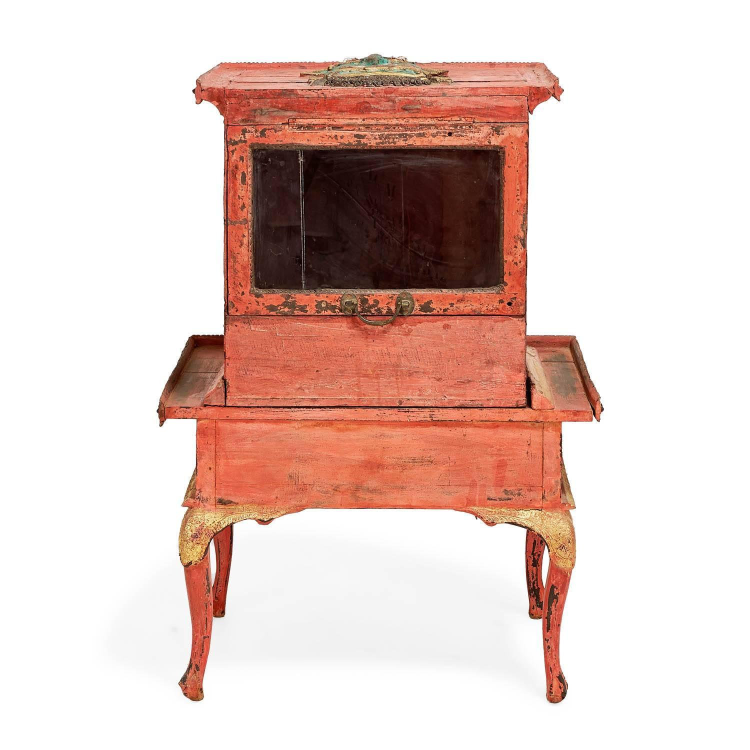 donate sofa in nyc length of 2 seater antique thai late 19th century painted wood donation box
