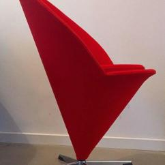 Vernon Panton Chair Ergonomic Gumtree Danish Design Mid Century Verner K Series Cone Red Wool Space Age Fabric
