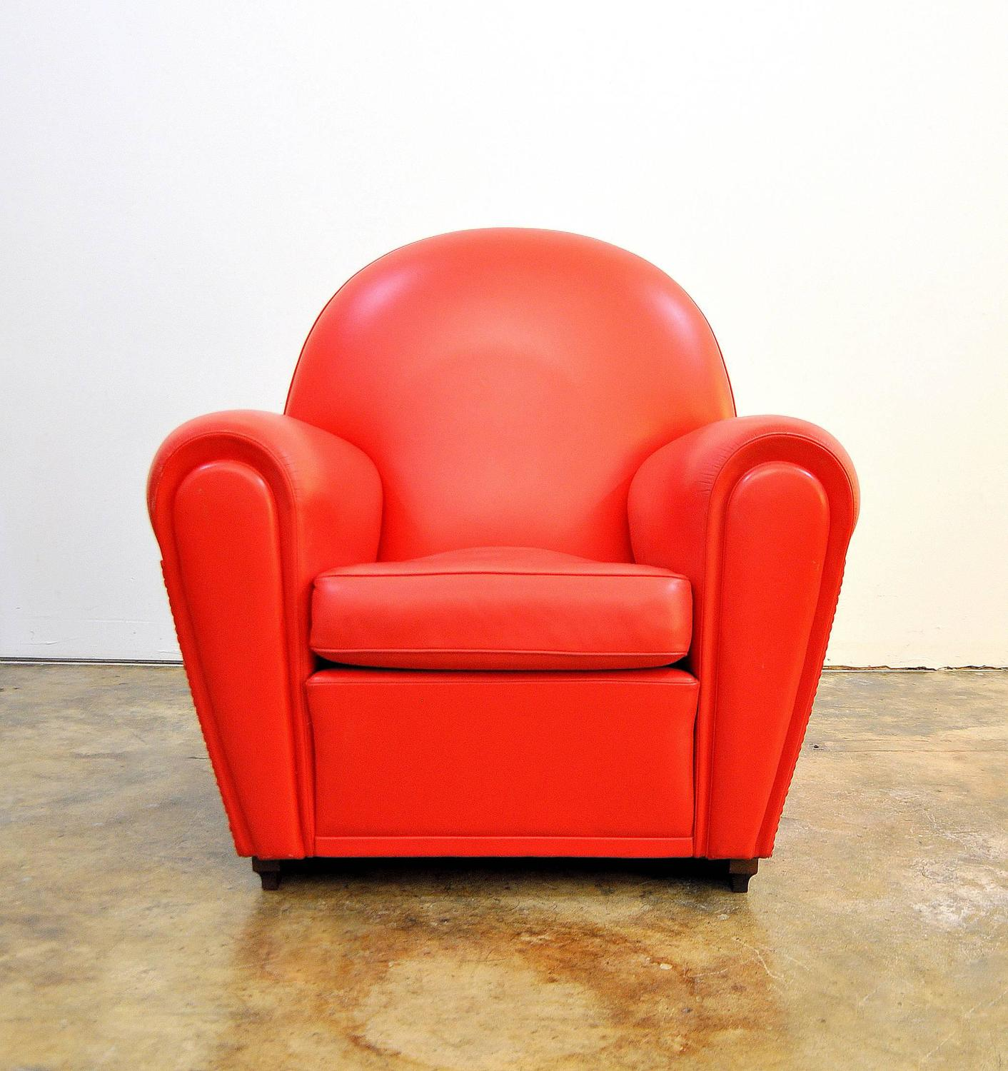 red club chair press back poltrona frau vanity fair leather at 1stdibs