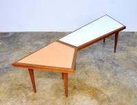 Mid-Century Danish Modern Geometric Coffee and Side Table ...