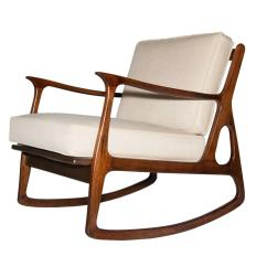 Antique Rocking Chairs Without Arms Legs For Italian Walnut Wood Chair 1960s At 1stdibs