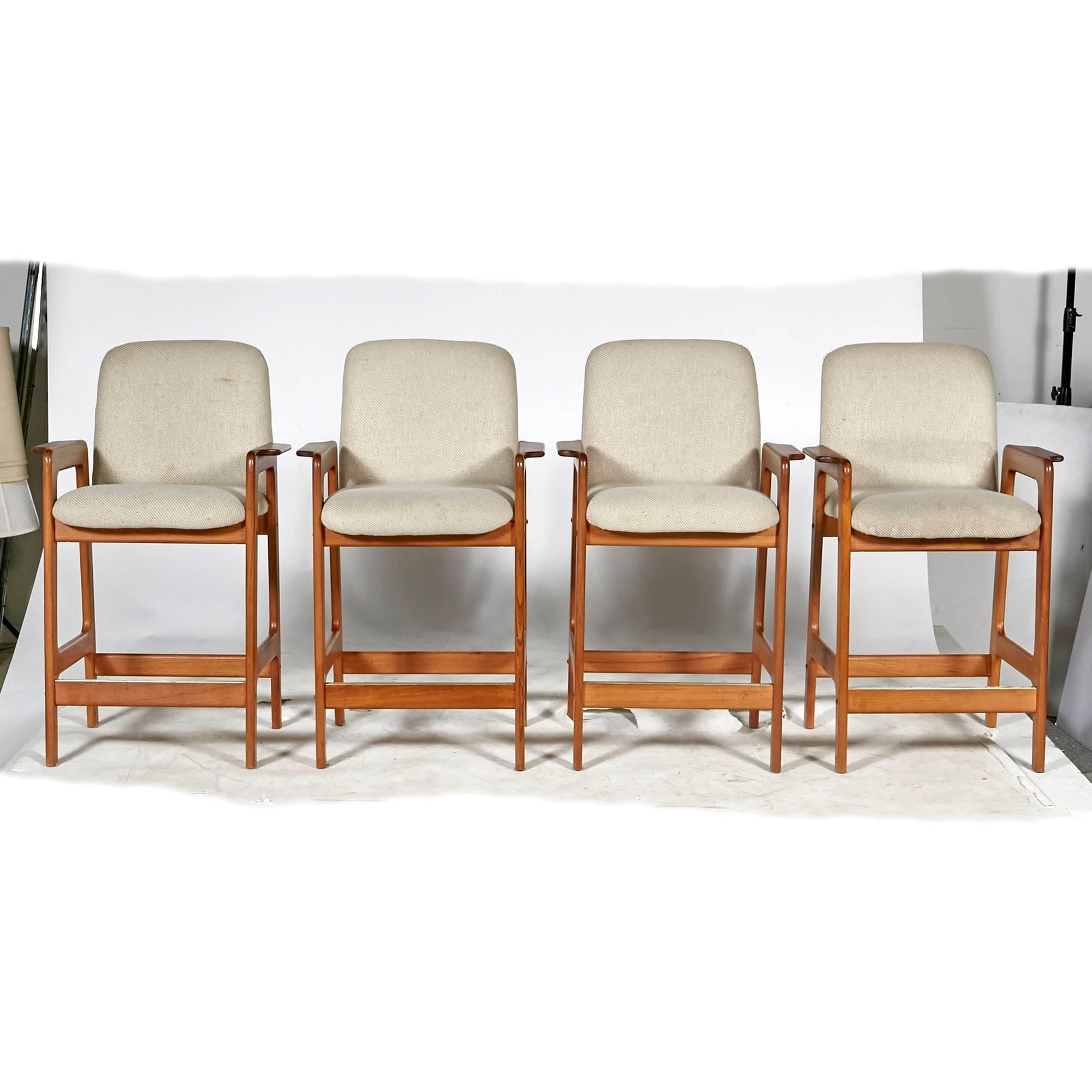 midcentury rocking chair tall director chairs benny linden teak bar stools, set of four for sale at 1stdibs