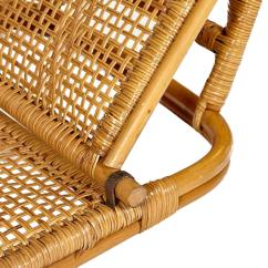 Folding Wicker Chairs Car Seat Desk Chair Conversion Rattan And Beach Pair At 1stdibs