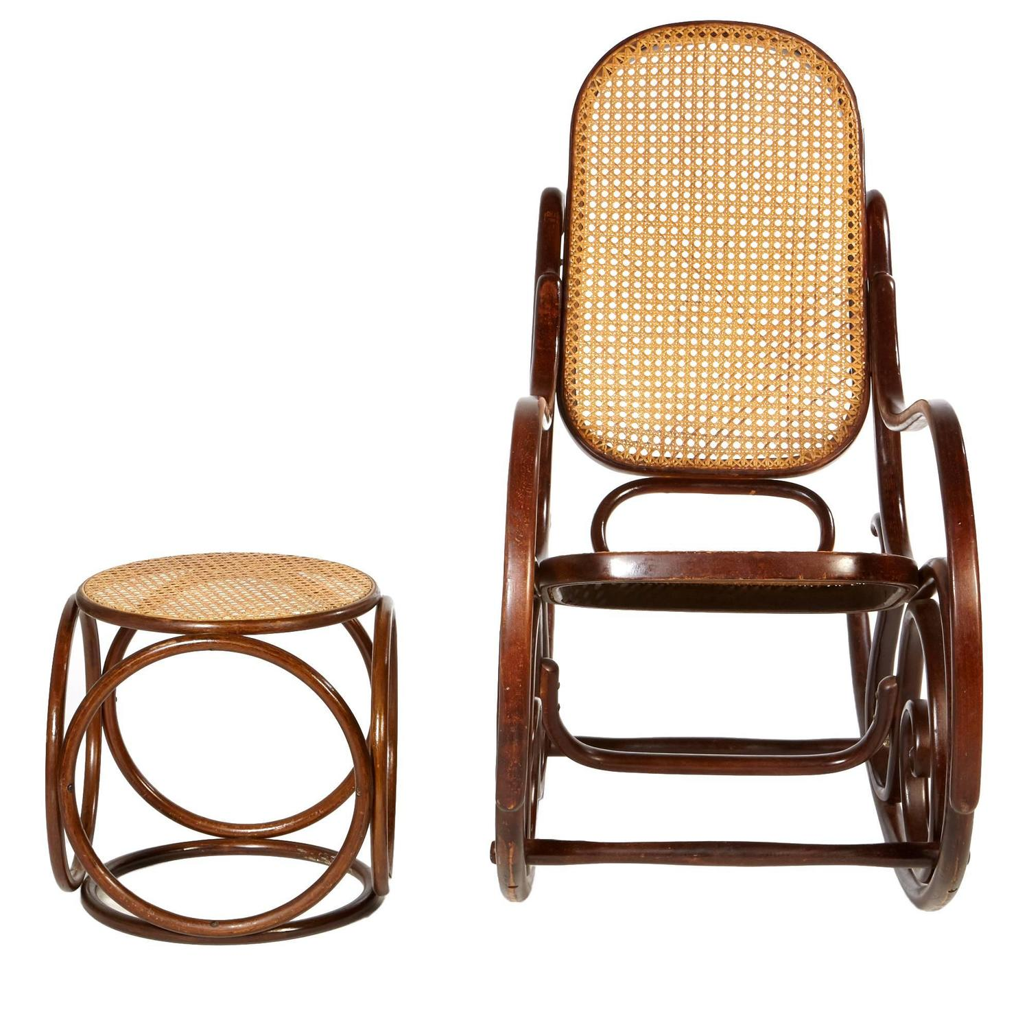 thonet chair styles mini electric wheelchair mid 20th century style rocking and ottoman
