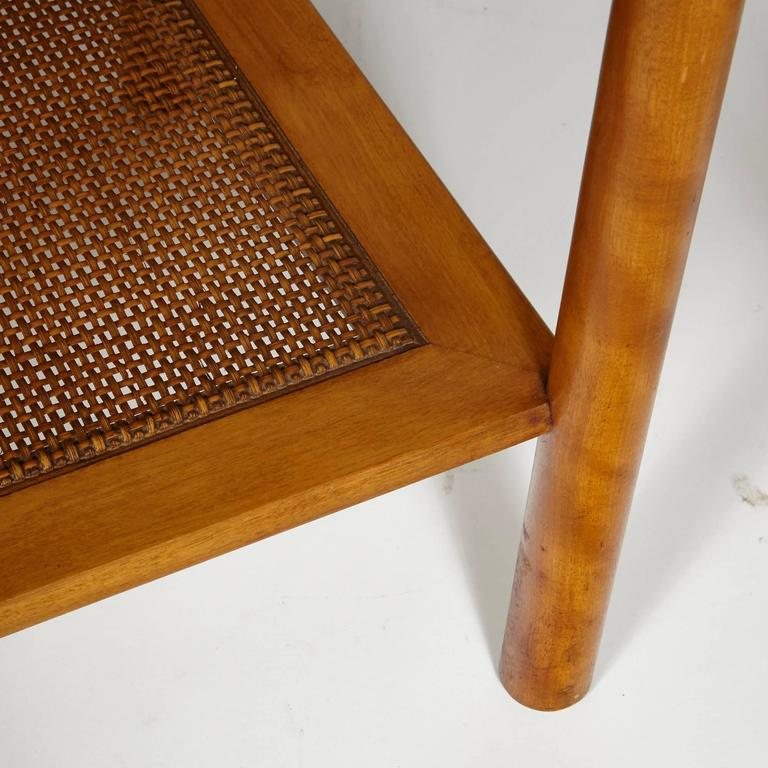 Leslie Diamond For Conant Ball Pair Of Caned Side Tables