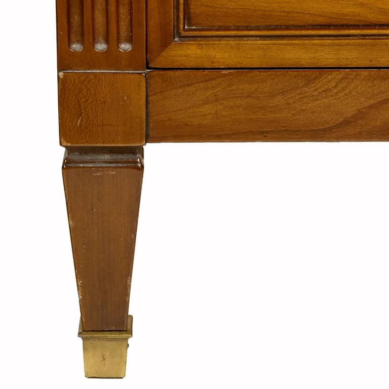 cherry wood tall dresser by kindel furniture co 1960s