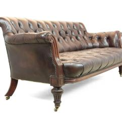 Buttoned Leather Chair Folding In Rajkot Antique Sofa Circa 1880 At 1stdibs