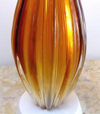 Orange Mid-Century Modern Murano Glass Table Lamp For Sale ...
