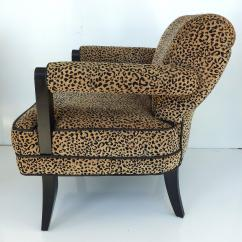 Zebra Print Chairs For Sale Chair Covers Wedding Norfolk Larry Lazslo Directional Pair Of Velvet Leopard