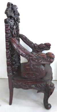 Late 19th Century Japanese Meiji Throne Chair For Sale at ...