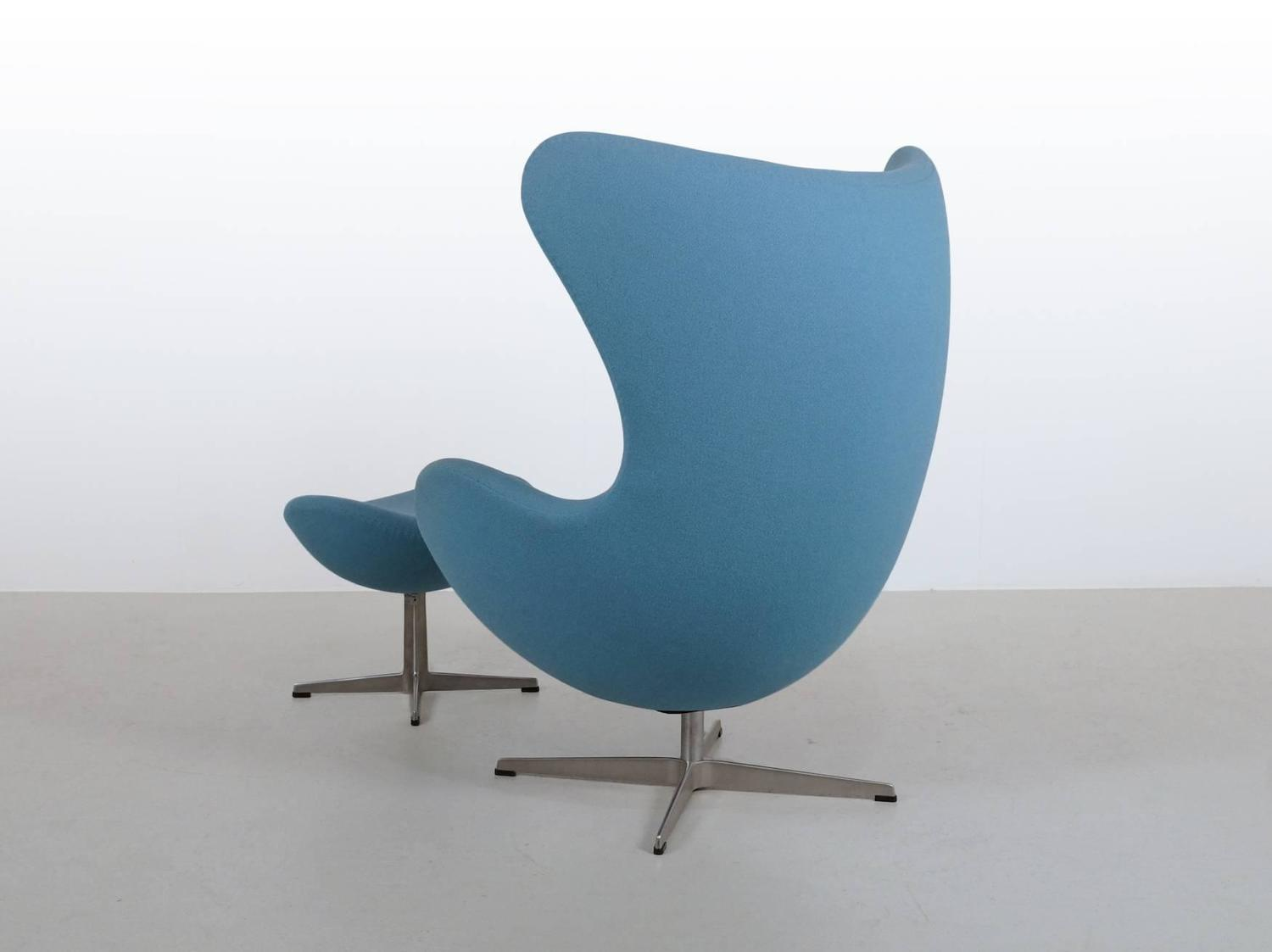 blue egg chair cover rental orland park arne jacobsen and ottoman by fritz hansen
