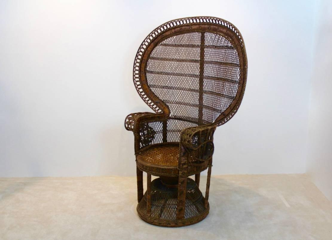 rattan peacock chair office singapore iconic 1970s at 1stdibs