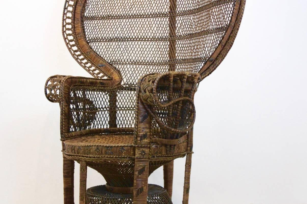 rattan peacock chair the ugly tupelo ms iconic 1970s at 1stdibs