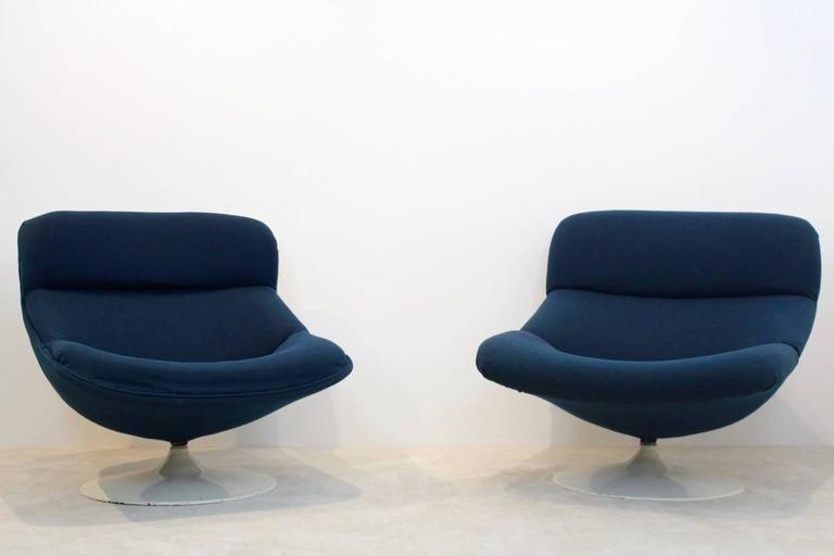 swivel lounge chairs pier one kitchen unique set artifort f518 and f522 by geoffrey mid century modern harcourt