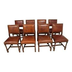 Dining Table With Leather Chairs Swing Chair Dublin Mid 20th Century Oak Room Eight