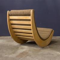 1974, Verner Panton, Rosenthal, Original Wooden Rocker