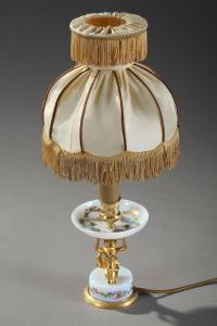 Late 19th Century Art Nouveau Opaline and Gilt Bronze Lamp ...