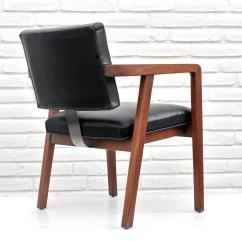 Herman Miller Leather Chair Executive George Nelson For Walnut And Desk