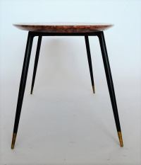 Mid-Century Italian Red Marble Coffee or Side Table, 1950s ...