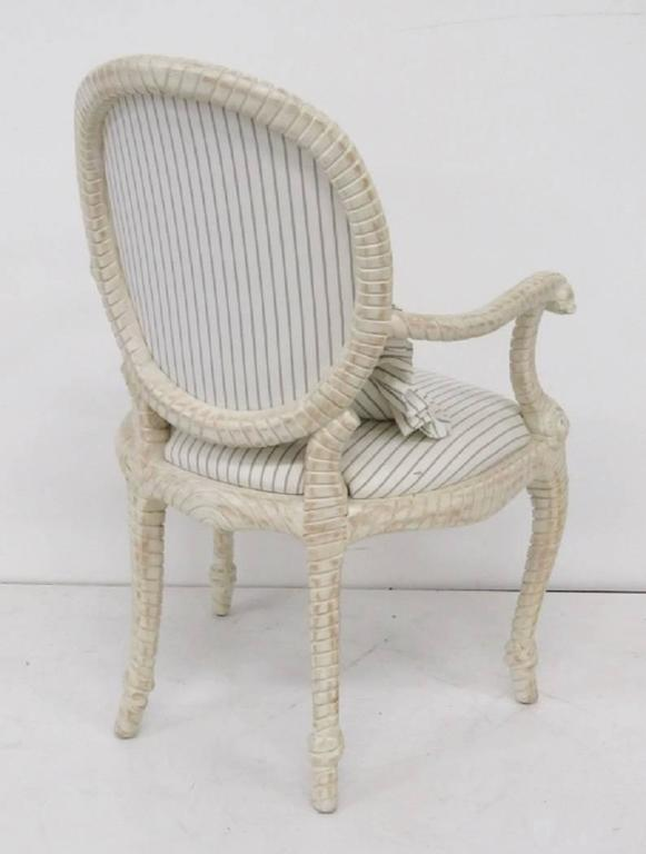 ladder back dining room chairs small for bedrooms eight country french style distressed painted sale at 1stdibs