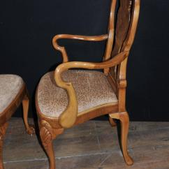 Queen Anne Dining Chair Haworth Lively Set Of Eight Walnut Chairs For Sale At