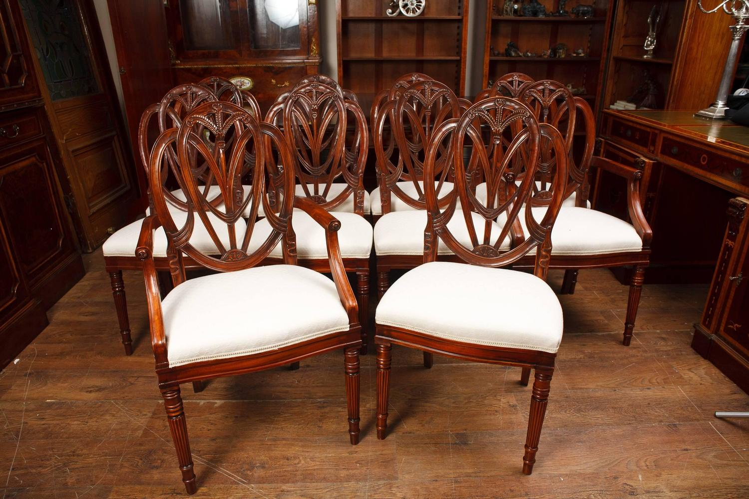 Hepplewhite Chair Set Of Mahogany Hepplewhite Style Dining Chairs For Sale