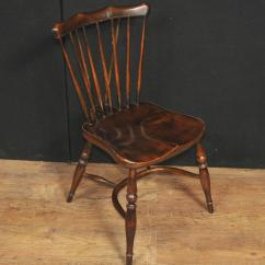 Antique Windsor Chair Identification Shop Steel Set Of Eight Oak Chairs 1920 Kitchen