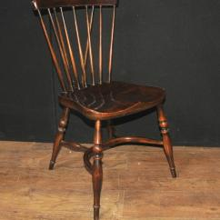Ladder Back Dining Chairs Marc Newson Chair Set Of Eight Antique Oak Windsor 1920 Kitchen At 1stdibs