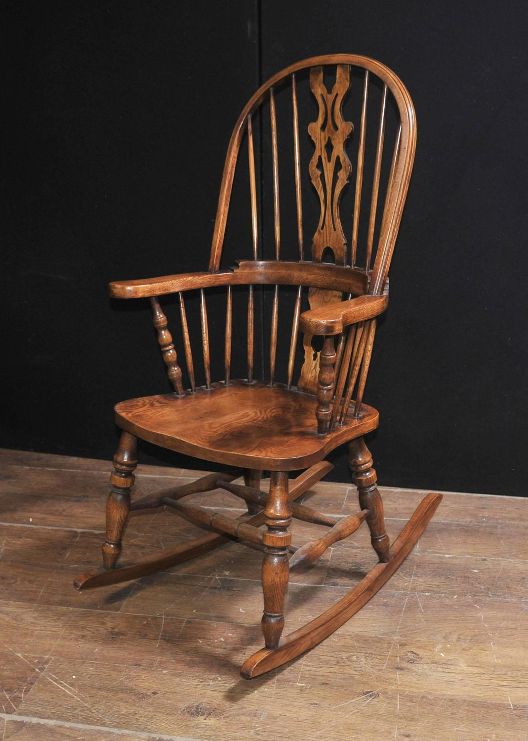 farmhouse chairs for sale fishing chair with rod holder hand carved english windsor rocking