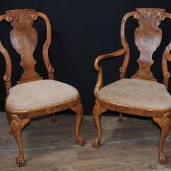 Queen Ann Chairs Faux Bamboo Chair Walnut Dining Set Anne And Victorian Table